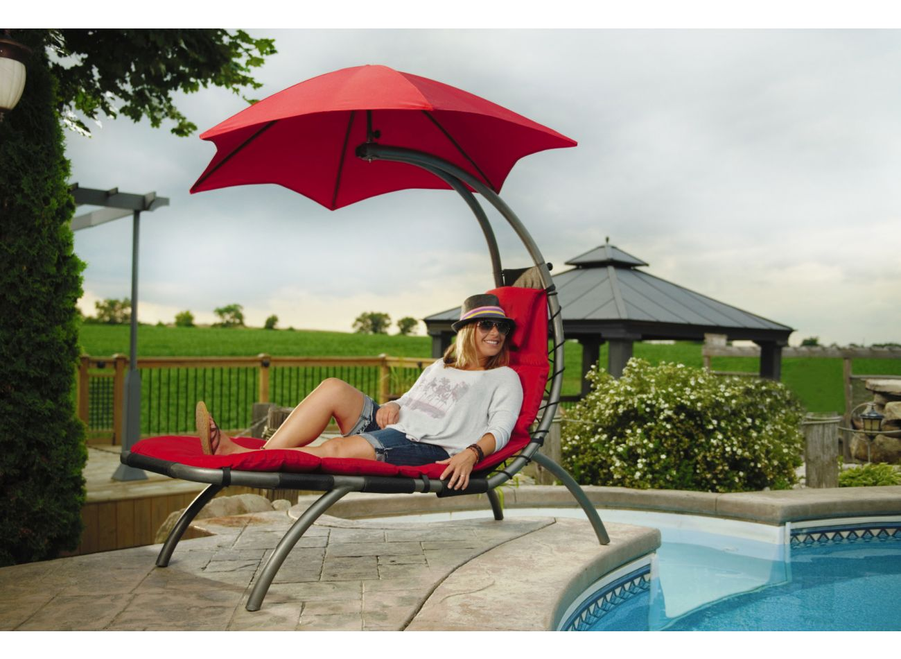 Original 1 Personne Dream Lounger Red