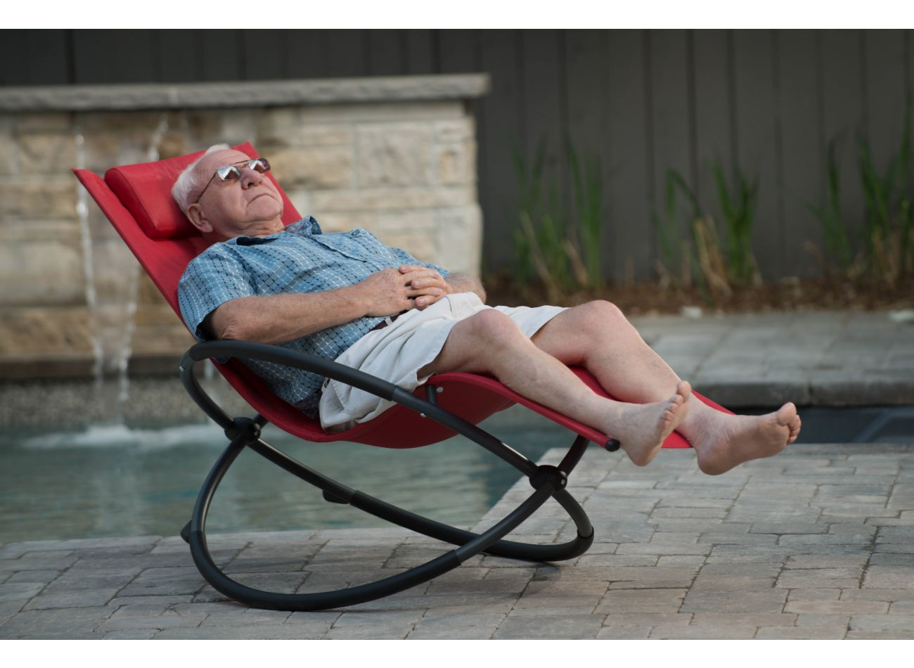 Chaise à bascule 1 Personne Orbital Lounger Red
