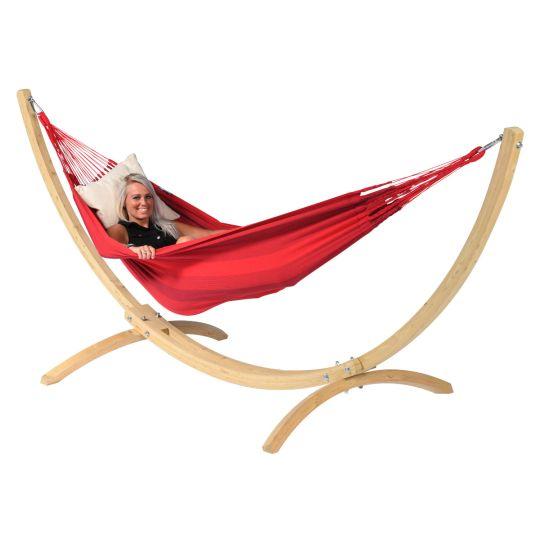 Hamac Sur Pied 1 Personne Wood & Dream Red