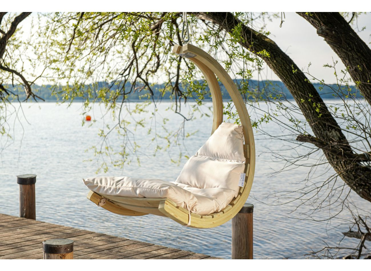 Hamac Suspendu 1 Personne Swing Chair Creme